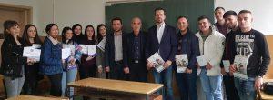 """UNT prezantoi programet studimore para maturantëve të shkollës së mesme ekonomike """"Arseni Jovkov"""""""
